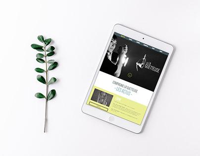 [WebDesign] Site internet - Cie La Guetteuse (danse)
