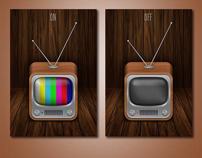 3D icons retro TV