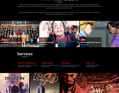 PSD TO HTML FOR COMIC SERVICE PROVIDER WEBSITE