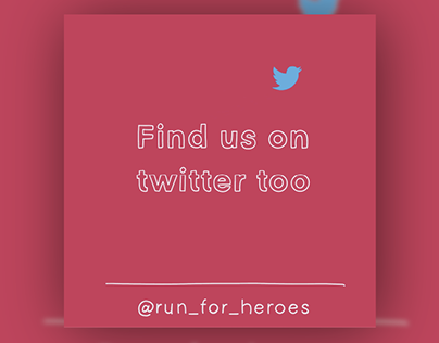 Run For Heroes • Twitter• Motion Graphics