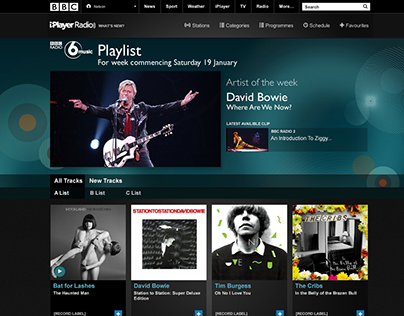 BBC Playlist early concept