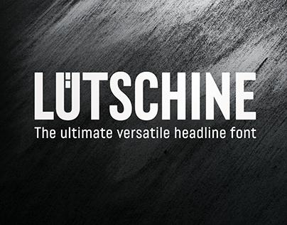 Lütschine - versatile headline font family