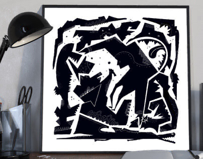 Shaman. Black&white collection.