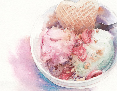 Watercolor dishes