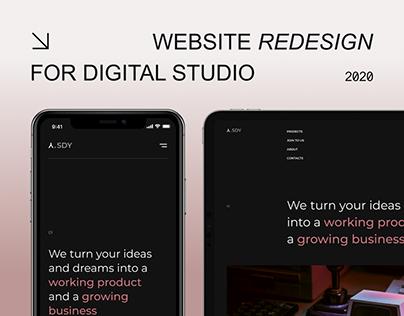 SDY | Website redesign