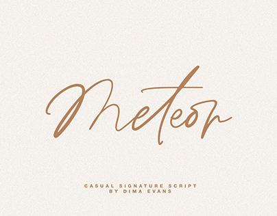 Meteor Script/ Casual signature font
