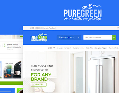 PureGreen Website Design