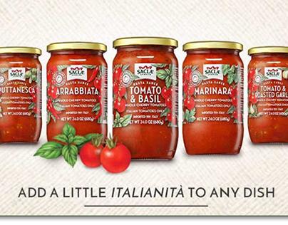 Packaging Illustrations for Sacla Italia