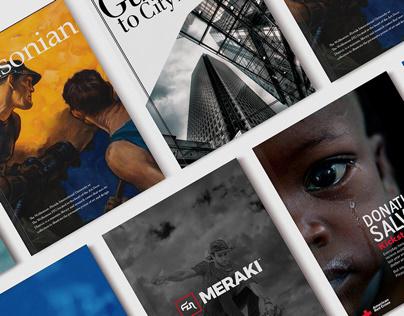 Magazine Spreads & Advertisements