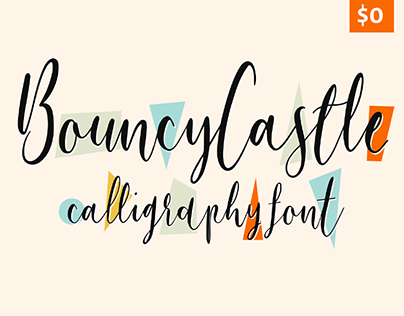Bouncy Castle - Free Modern Calligraphy Font Family