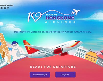 Hongkong Airlines - Interaction Microsite