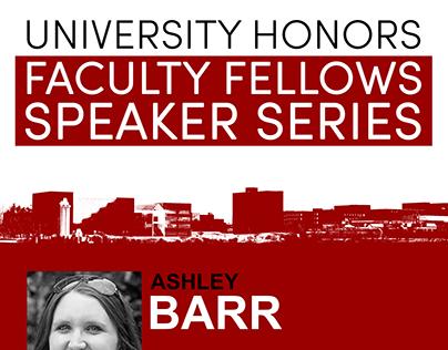 Honors Faculty Fellows Speaker Series Debut Poster