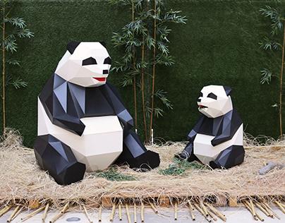 Paper Panda & Bunny