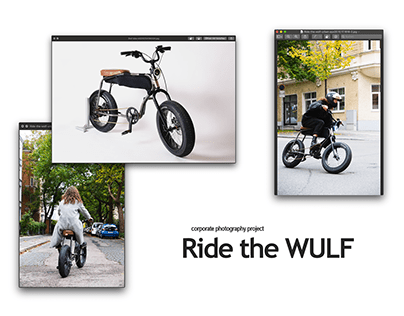 Ride the WULF - corporate lifestyle and product shots