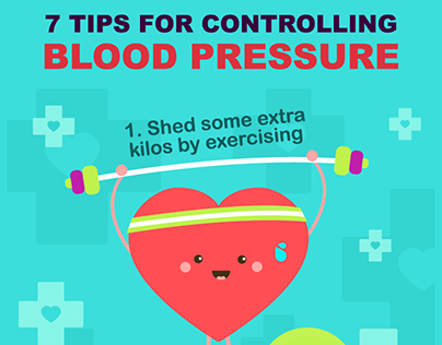 Infographic - 7 Tips For Controlling Blood Pressure