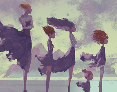 Little women and the sea