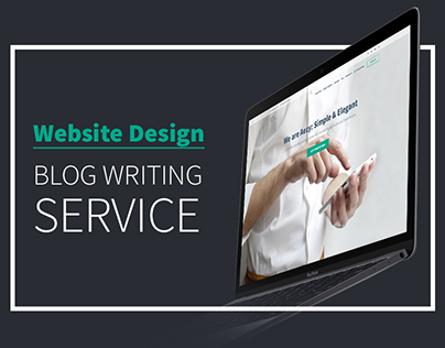 Simple&Elegant landing page for Content Writing Serviсe