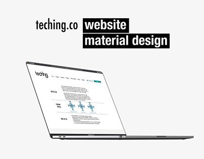 TECHING website material design