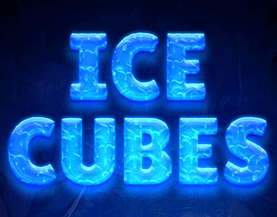 Ice Cubes Text Style Freebie