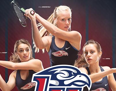 Liberty Women's Tennis Branding