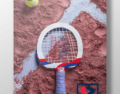 poster Ping pong racket