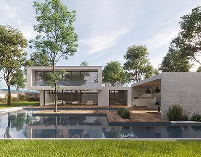Visualization of a luxury villa