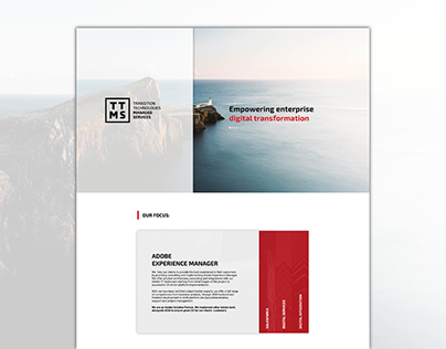 Simple landing page with horizontal accordion
