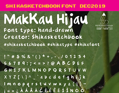 Shikasketchbook font