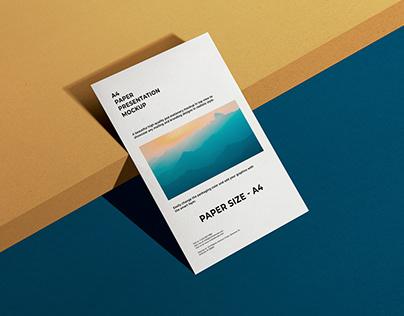 A4 Paper Presentation Mockup