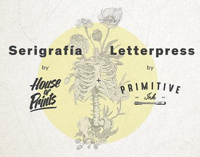 Primitive.ink: Letterpress + Serigrafia