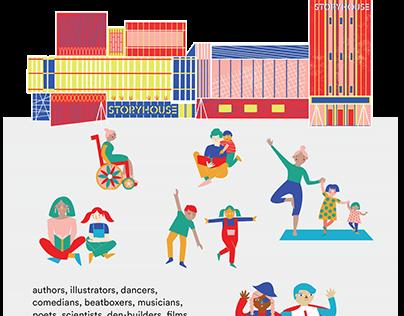 Wayword Festival Illustrations for Chester Storyhouse