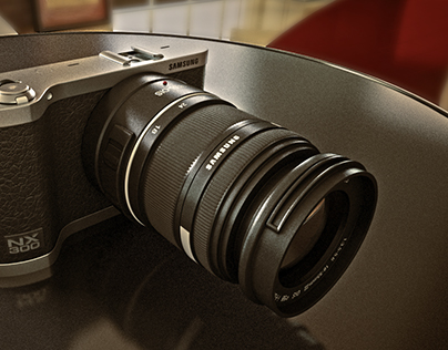 3D NX300 Samsung Câmera