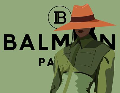 BALMAIN S/S 2020 - Illustration series