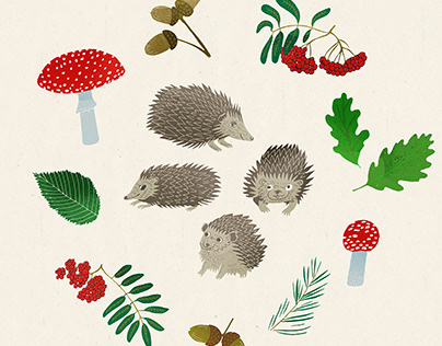 Family Portrait of Hedgehogs
