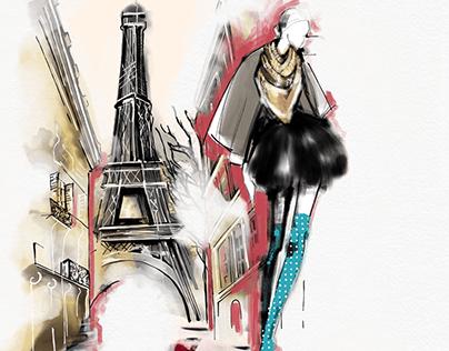 Paris Fashion Illustration