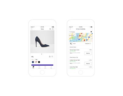 ALDO iOS Reservation Feature