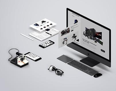 E-commerce Website Template Design