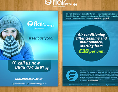 Flyer Designs of Flair Energy