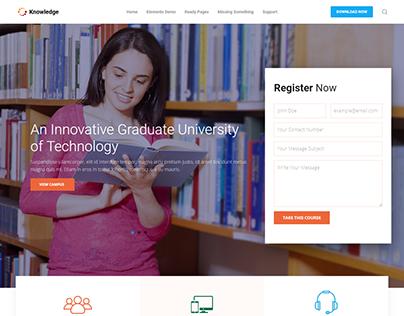 Technology University Landing Page