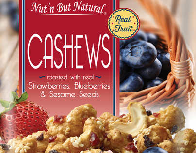 Cashews with Strawberries, Blueberries & Sesame Seeds