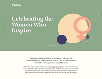 Responsive websites for Women's month