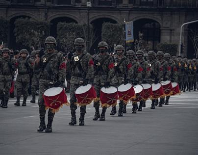 Military, militares en marcha. Ejercito nacional