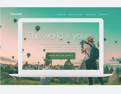 Travel Agency Modern flat UI Design