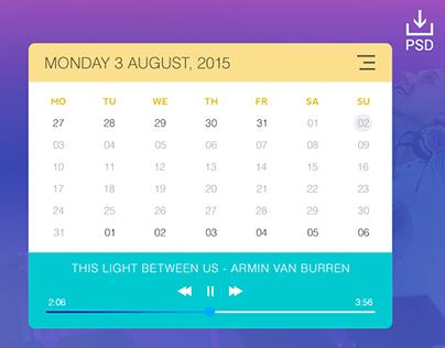 Calendar & Music Widget