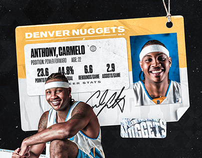 CARMELO ANTHONY - DENVER NUGGETS ARTWORK/MOTION GRAPHIC