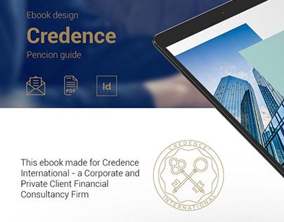 Ebook design. Pencion guide