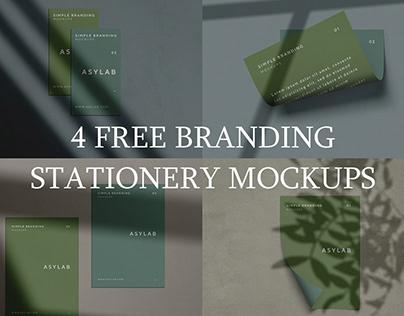 Free Branding Stationery Mockups