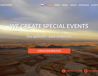 Event Agency company website
