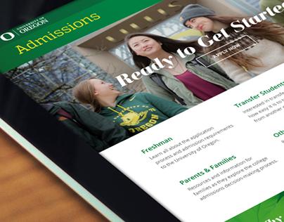 University of Oregon: Admissions Website