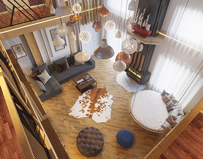 The reconstruction of the country house interior design